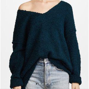Free People Lofty V Neck Sweater sz M